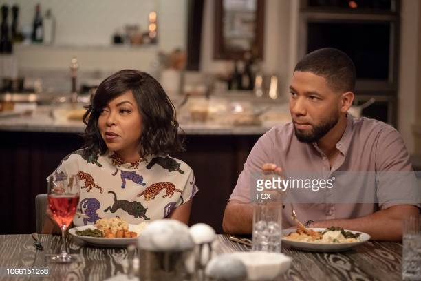 Taraji P Henson and Jussie Smollett in the Treasons Stratagems and Spoils episode of EMPIRE airing Wednesday Nov 14 on FOX