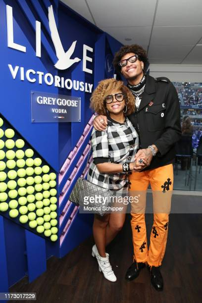 Taraji P Henson and Kelly Oubre Jr attend as Grey Goose toasts to the 2019 US Open at Arthur Ashe Stadium on September 07 2019 in New York City