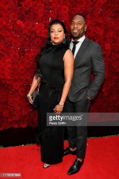 Taraji P Henson and Kelvin Hayden attend Tyler Perry Studios grand opening gala at Tyler Perry Studios on October 05 2019 in Atlanta Georgia