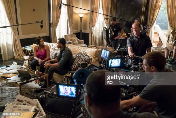 """Taraji P. Henson and Trai Byers behind the scenes in the """"The Depth of Grief"""" episode of EMPIRE airing Wednesday, Oct. 31 on FOX."""