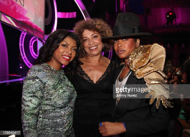 Taraji P Henson Angela Davis and Erykah Badu attend Black Girls Rock 2011 at the Paradise Theater on October 15 2011 in New York City