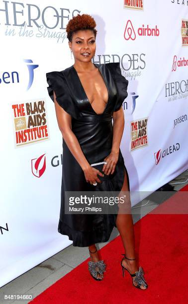 Taraji P Henson arrives at the 16th Annual Heroes In The Struggle gala reception and awards presentation at 20th Century Fox on September 16 2017 in...