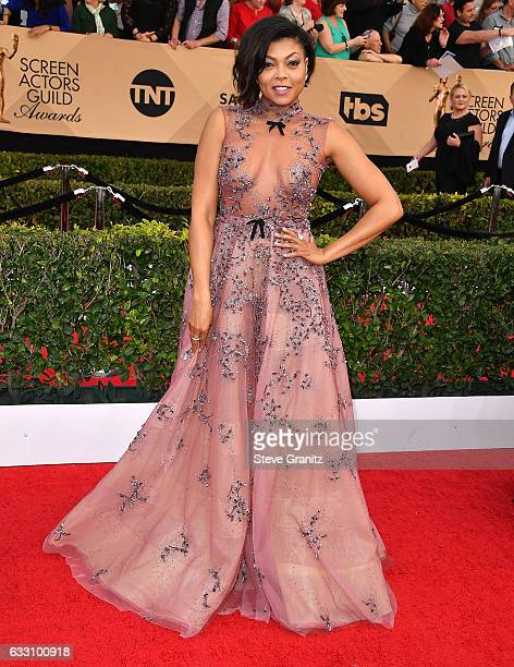 Taraji P Henson arrives at the 23rd Annual Screen Actors Guild Awards at The Shrine Expo Hall on January 29 2017 in Los Angeles California