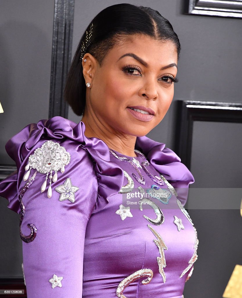 Taraji P. Henson arrives at the 59th GRAMMY Awards on February 12, 2017 in Los Angeles, California.