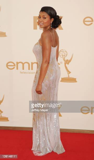 Taraji P Henson arrives at the 63rd Primetime Emmy Awards at the Nokia Theatre LA Live on September 18 2011 in Los Angeles California