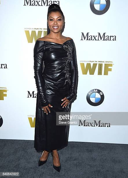 Taraji P Henson arrives at the Women In Film 2016 Crystal Lucy Awards Presented By Max Mara And BMW at The Beverly Hilton Hotel on June 15 2016 in...