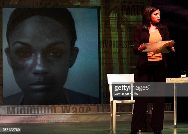 "Taraji P. Henson as Jane in the dress rehearsal of the play ""Above the Fold"" at Pasadena Playhouse in Pasadena on Jan. 26, 2014. New York Times..."