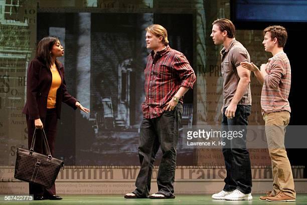 "Taraji P. Henson as Jane, Joe Massingill as Bobby, Kristooher Higgins as Victor and Seamus Mulcahy as Eric in the dress rehearsal of the play ""Above..."