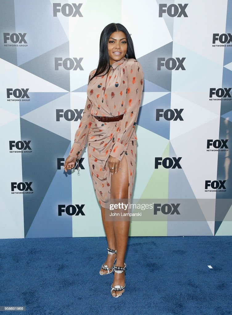 Taraji P. Henson attends 2018 Fox Network Upfront at Wollman Rink, Central Park on May 14, 2018 in New York City.