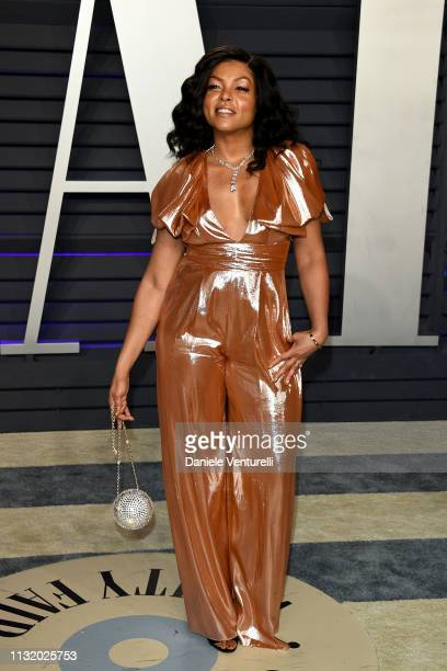 Taraji P Henson attends 2019 Vanity Fair Oscar Party Hosted By Radhika Jones Arrivals at Wallis Annenberg Center for the Performing Arts on February...