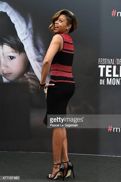 Taraji P Henson attends a photocall for the 'Empire' TV series during the 55th Monte Carlo TV Festival on June 14 2015 in MonteCarlo Monaco