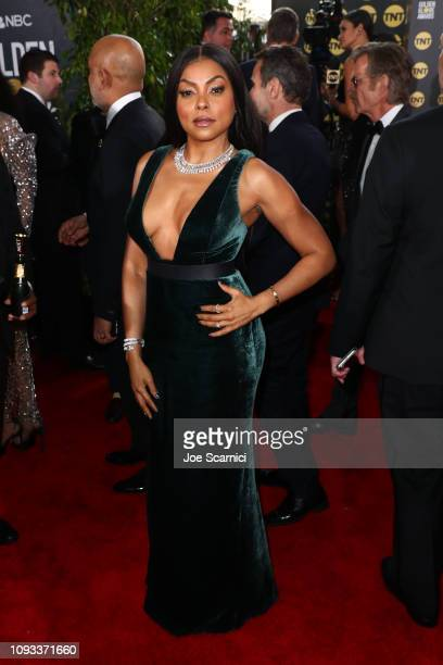 Taraji P Henson attends Moet Chandon at The 76th Annual Golden Globe Awards at The Beverly Hilton Hotel on January 6 2019 in Beverly Hills California