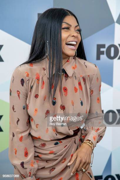 Taraji P Henson attends the 2018 Fox Network Upfront at Wollman Rink Central Park on May 14 2018 in New York City