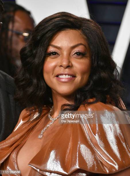Taraji P Henson attends the 2019 Vanity Fair Oscar Party hosted by Radhika Jones at Wallis Annenberg Center for the Performing Arts on February 24...