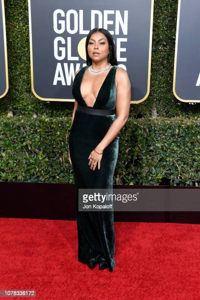 Taraji P Henson attends the 76th Annual Golden Globe Awards at The Beverly Hilton Hotel on January 6 2019 in Beverly Hills California