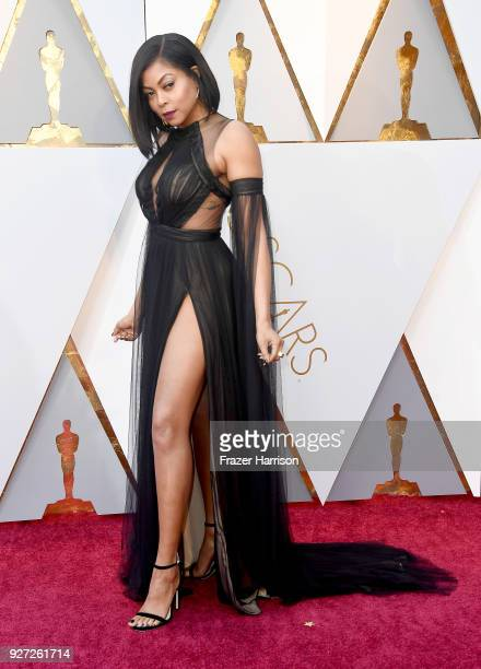 Taraji P Henson attends the 90th Annual Academy Awards at Hollywood Highland Center on March 4 2018 in Hollywood California