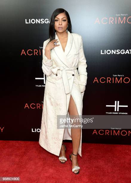Taraji P Henson attends the Acrimony New York Premiere on March 27 2018 in New York City