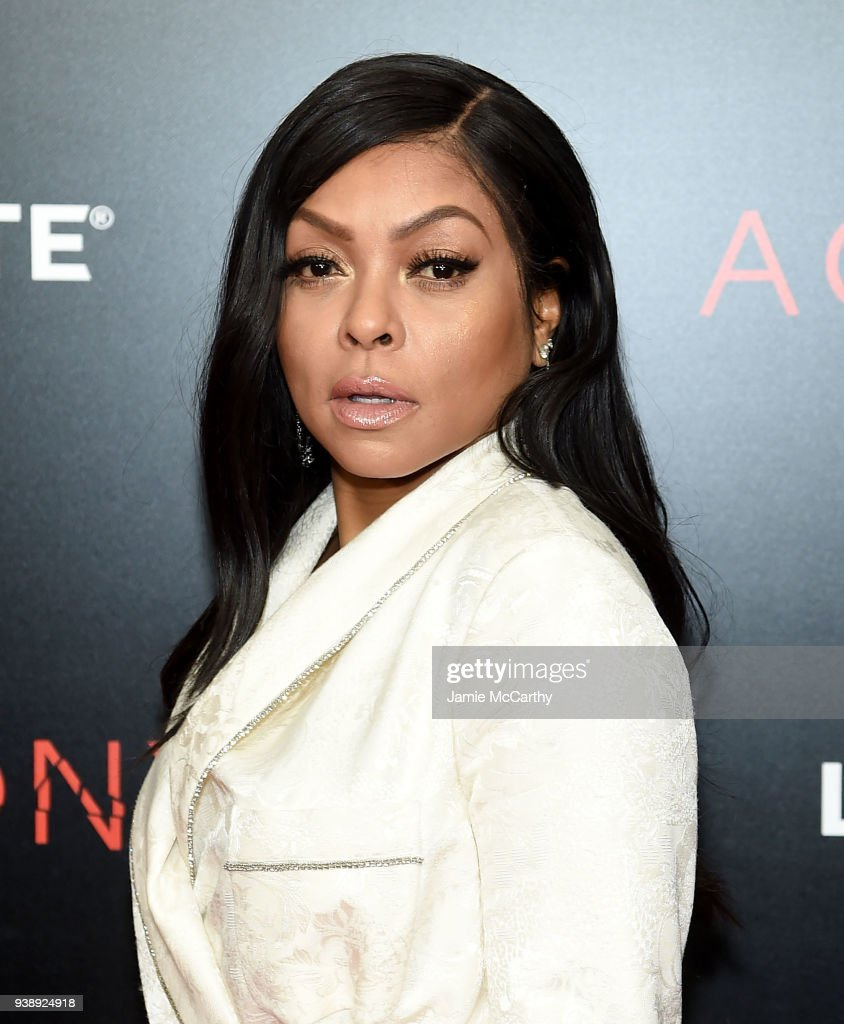 Taraji P. Henson attends the 'Acrimony' New York Premiere on March 27, 2018 in New York City.