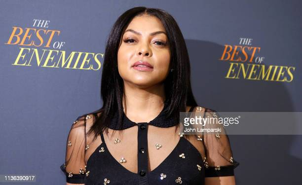 Taraji P Henson attends 'The Best Of Enemies' New York Photo Call at the Whitby Hotel on March 17 2019 in New York City