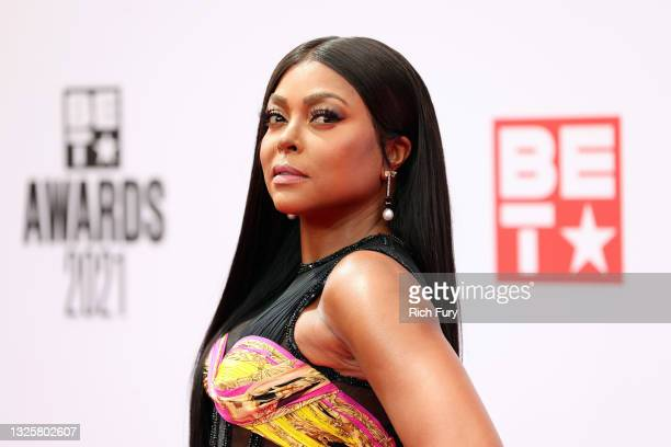 Taraji P. Henson attends the BET Awards 2021 at Microsoft Theater on June 27, 2021 in Los Angeles, California.