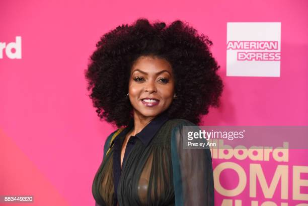Taraji P Henson attends the Billboard Women In Music 2017 Arrivals at The Ray Dolby Ballroom at Hollywood Highland Center on November 30 2017 in...