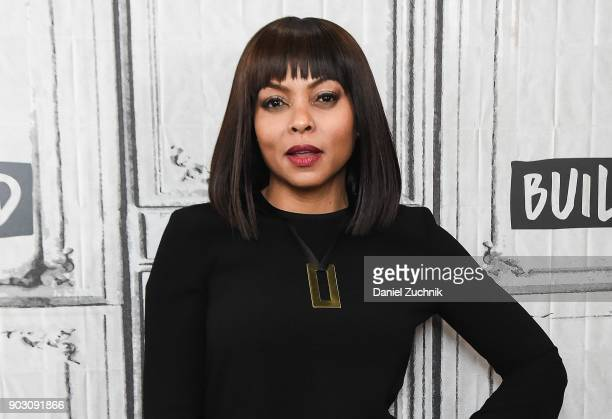 Taraji P Henson attends the Build Series to discuss her new film 'Proud Mary' at Build Studio on January 9 2018 in New York City