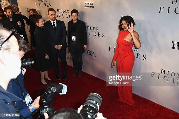 "Taraji P. Henson attends the ""Hidden Figures"" New York Special Screening on December 10, 2016 in New York City."