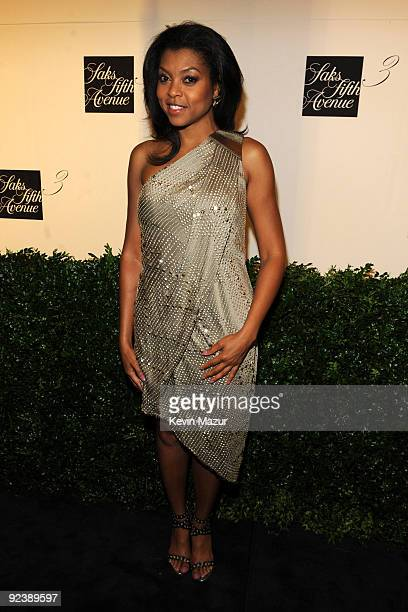 Taraji P Henson attends the launch of the new designers floor at Saks Fifth Avenue on September 9 2009 in New York City