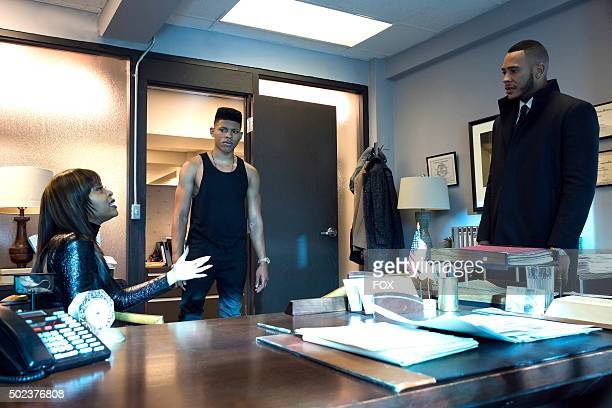 Taraji P Henson Bryshere Gray and Trai Byers in the Et Tu Brute episode of EMPIRE airing Wednesday Dec 2 on FOX