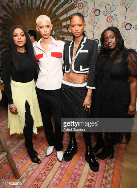 Taraji P Henson Dilone Adesuwa Aighewi and Shaniqwa Jarvis attend the InStyle Badass Women Dinner Hosted By Taraji P Henson And Laura Brown on...