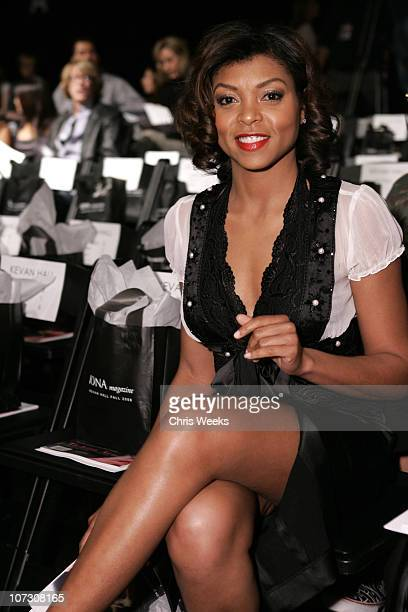 Taraji P Henson during MercedesBenz Fall 2006 LA Fashion Week at Smashbox Studios Kevan Hall Backstage and Front Row at Smashbox Studios in Culver...