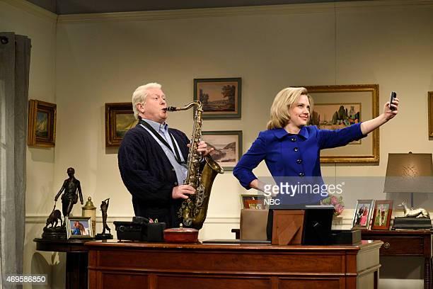 LIVE Taraji P Henson Episode 1680 Pictured Darrell Hammond as Bill Clinton and Kate McKinnon as Hillary Clinton during the Hillary Clinton Election...