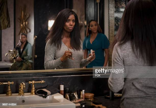 Taraji P Henson guest star Tasha Smith and guest star Vivica A Fox in the 'Sweet Sorrow' episode of EMPIRE airing Wednesday April 11 on FOX