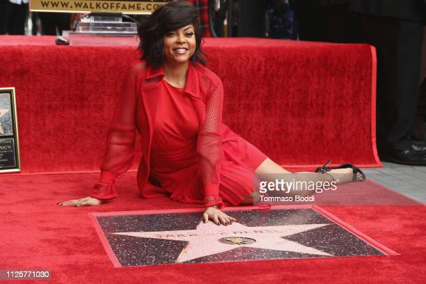 Taraji P Henson is honored with a star on The Hollywood Walk of Fame on January 28 2019 in Hollywood California