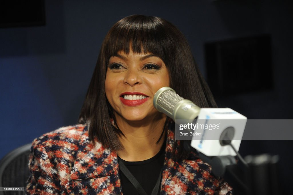 Taraji P. Henson is interviewed at SiriusXM on January 9, 2018 in New York City.
