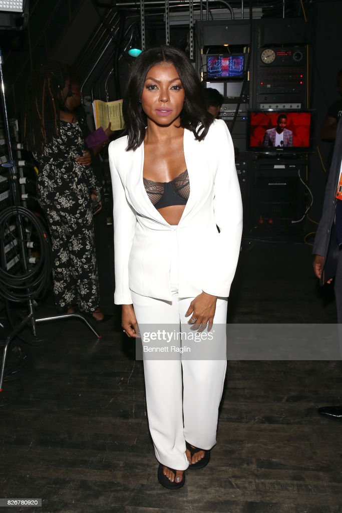Taraji P. Henson is seen backstage during Black Girls Rock! 2017 at NJPAC on August 5, 2017 in Newark, New Jersey.