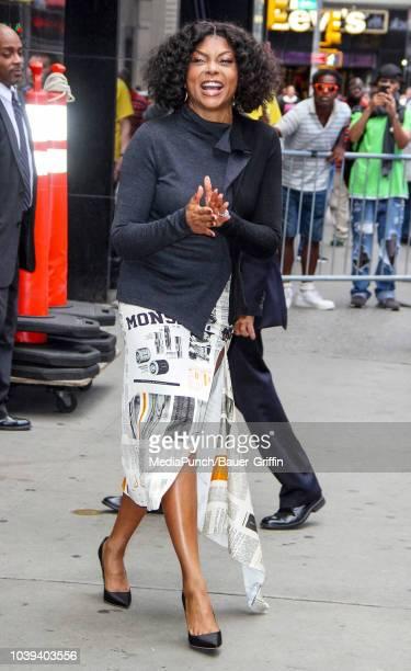 Taraji P Henson is seen on September 24 2018 in New York City
