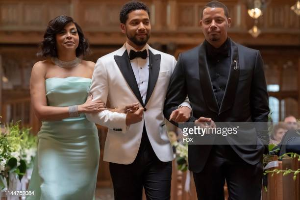 Taraji P Henson Jussie Smollett and Terrence Howard in the Never Doubt I Love episode of EMPIRE airing Wednesday April 24 on FOX