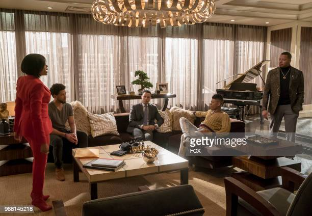 Taraji P Henson Jussie Smollett Trai Byers Bryshere Gray and Terrence Howard in the 'The Empire Unposessd' season finale episode of EMPIRE airing...