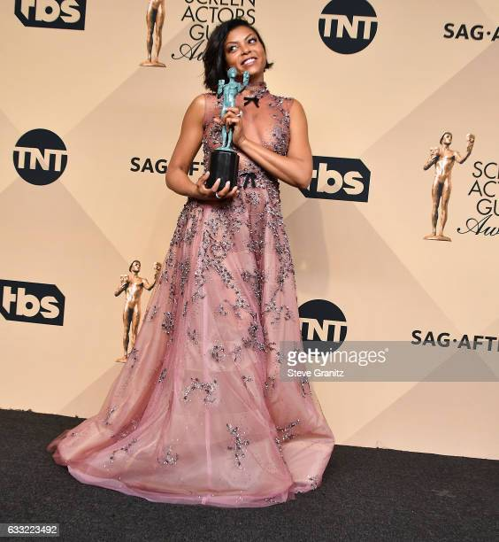 Taraji P Henson poses at the 23rd Annual Screen Actors Guild Awards at The Shrine Expo Hall on January 29 2017 in Los Angeles California