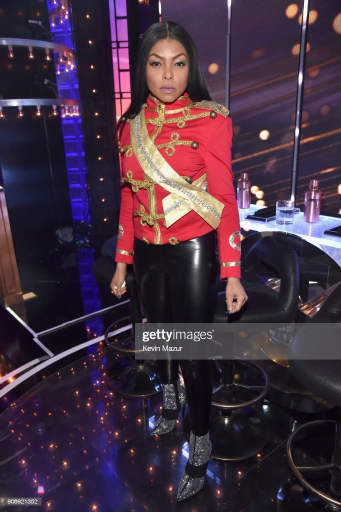Taraji P. Henson poses backstage during Lip Sync Battle Live: A Michael Jackson Celebration at Dolby Theatre on January 18, 2018 in Hollywood, California.
