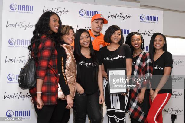 Taraji P Henson poses for photos with guests as NAMI celebrates Lord Taylor Charity Days on January 12 2019 in Schumburg Illinois