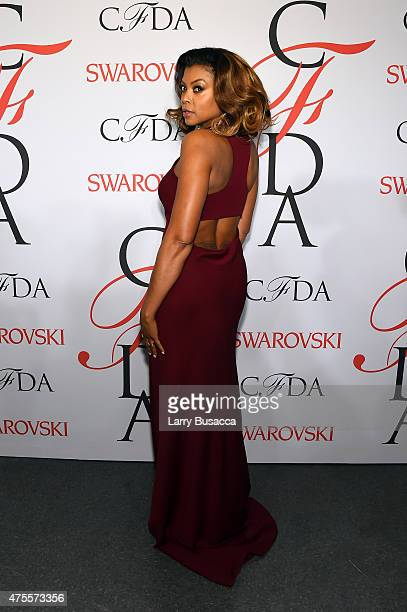 Taraji P. Henson poses on the winners walk at the 2015 CFDA Fashion Awards at Alice Tully Hall at Lincoln Center on June 1, 2015 in New York City.