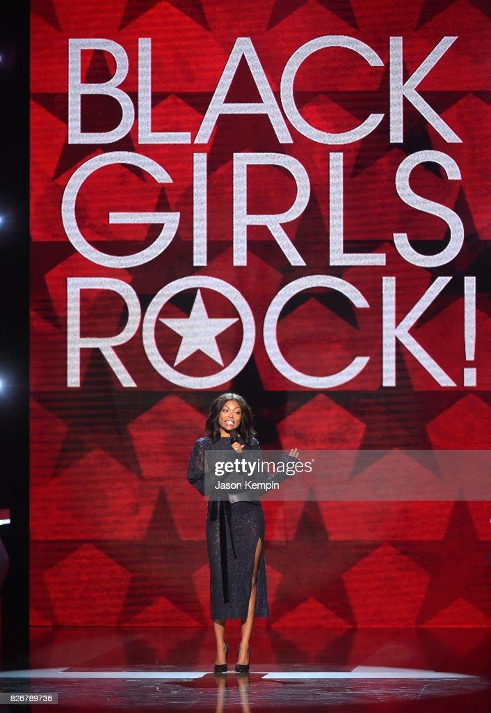 Taraji P. Henson presents onstage at Black Girls Rock! 2017 at NJPAC on August 5, 2017 in Newark, New Jersey.