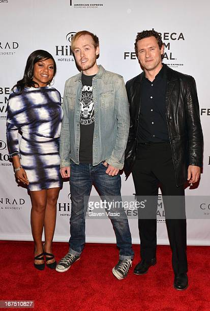 Taraji P Henson Sean Dunne and Jason O'Mara attend the TFF Awards Night during the 2013 Tribeca Film Festival on April 25 2013 in New York City