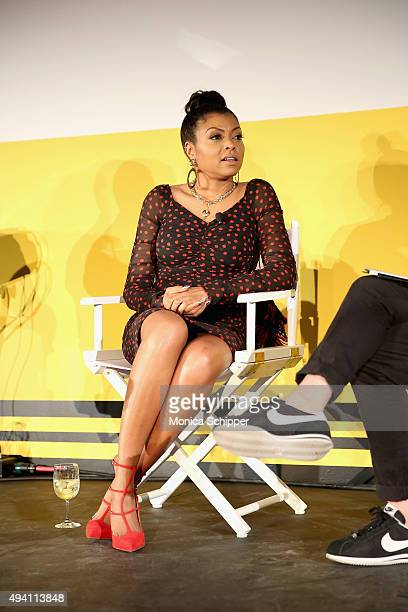 """Taraji P. Henson speaks onstage during Entertainment Weekly's first ever """"EW Fest"""" presented by LG OLED TV on October 24, 2015 in New York City."""