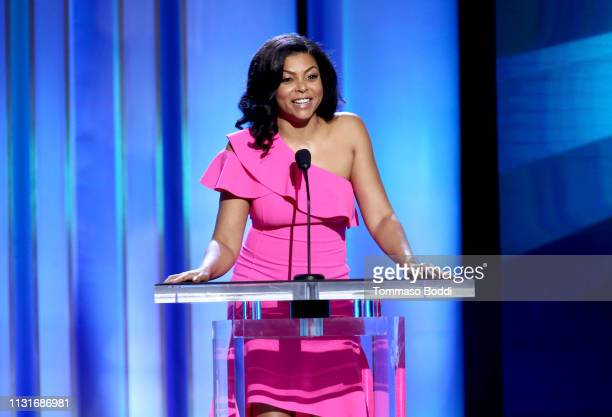 Taraji P Henson speaks onstage during the 2019 Film Independent Spirit Awards on February 23 2019 in Santa Monica California