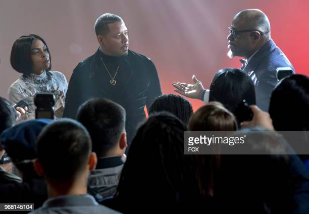 Taraji P Henson Terrence Howard and guest star Forest Whitaker in the 'FAIR TERMS' episode of EMPIRE airing Wednesday May 9 on FOX
