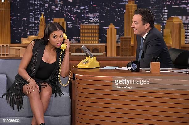 Taraji P Henson Visits 'The Tonight Show Starring Jimmy Fallon' at NBC Studios on February 24 2016 in New York City