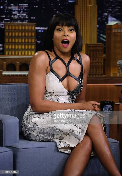 Taraji P Henson Visits 'The Tonight Show Starring Jimmy Fallon' at Rockefeller Center on October 10 2016 in New York City